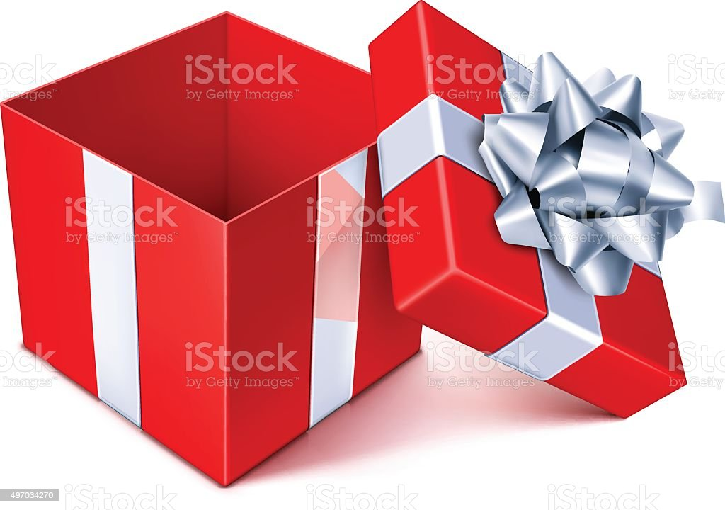 open box clipart. open gift box vector art illustration clipart