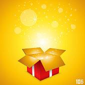 Open gift card box art
