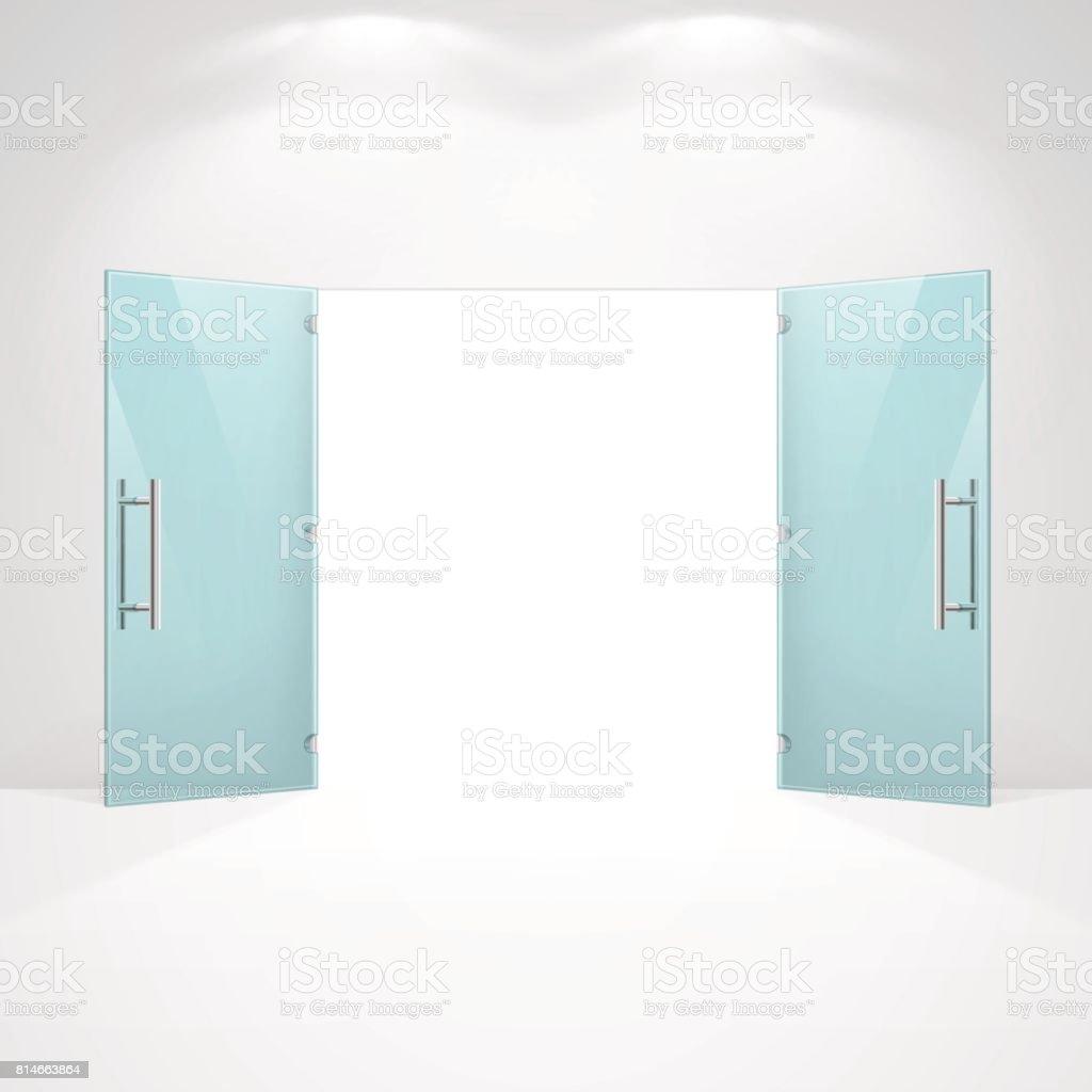 open front door illustration open glass doors vector art illustration royalty free opening front door clip art vector images