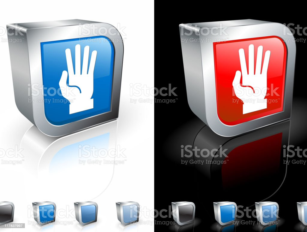 open hand (four count)3D royalty free vector art royalty-free stock vector art