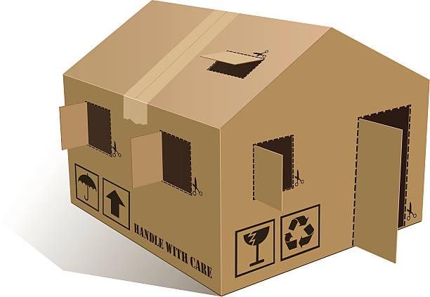 Open Home Box vector art illustration