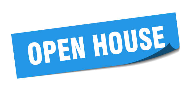 open house sticker. open house square isolated sign. open house open house sticker. open house square isolated sign. open house fully unbuttoned stock illustrations