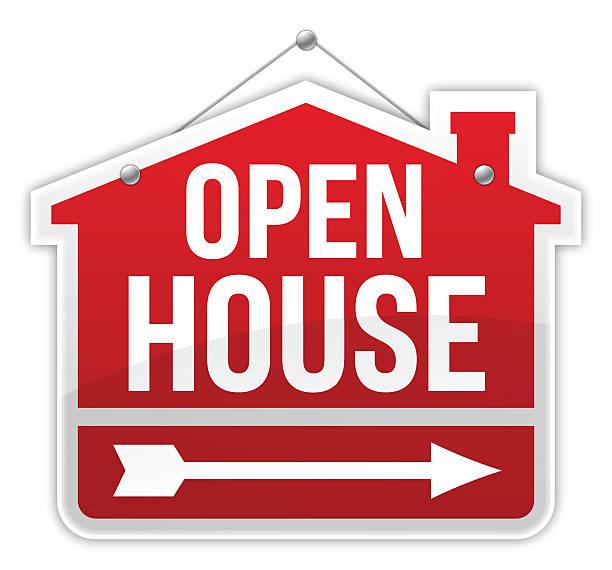 royalty free open house sign clip art vector images. Black Bedroom Furniture Sets. Home Design Ideas
