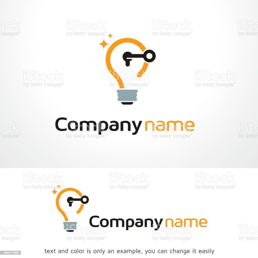 Ilustración de Abra La Idea Símbolo Plantilla Diseño Vector Emblema ...