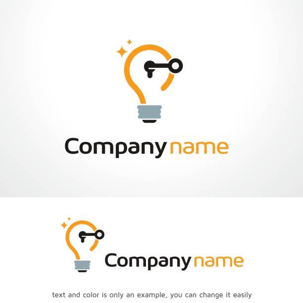 öffnen sie idee symbol template design vektor, emblem, designkonzept, kreativen symbol, symbol - kopfleuchten stock-grafiken, -clipart, -cartoons und -symbole