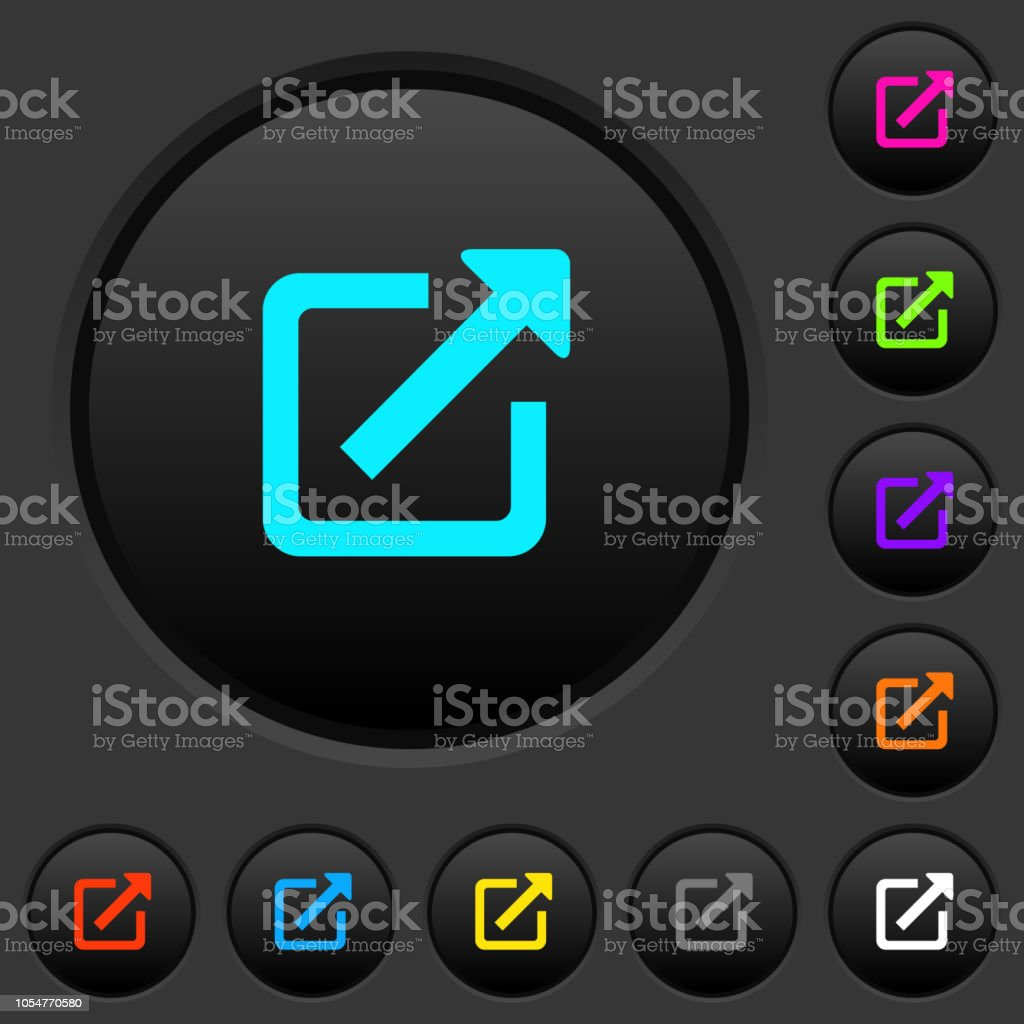 Open in new window dark push buttons with color icons