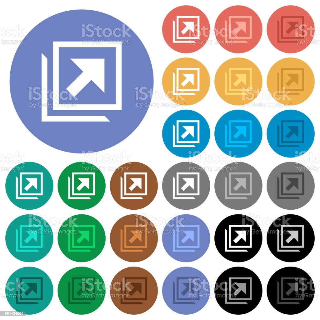 Open in new window round flat multi colored icons