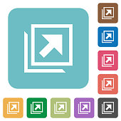 Open in new window rounded square flat icons