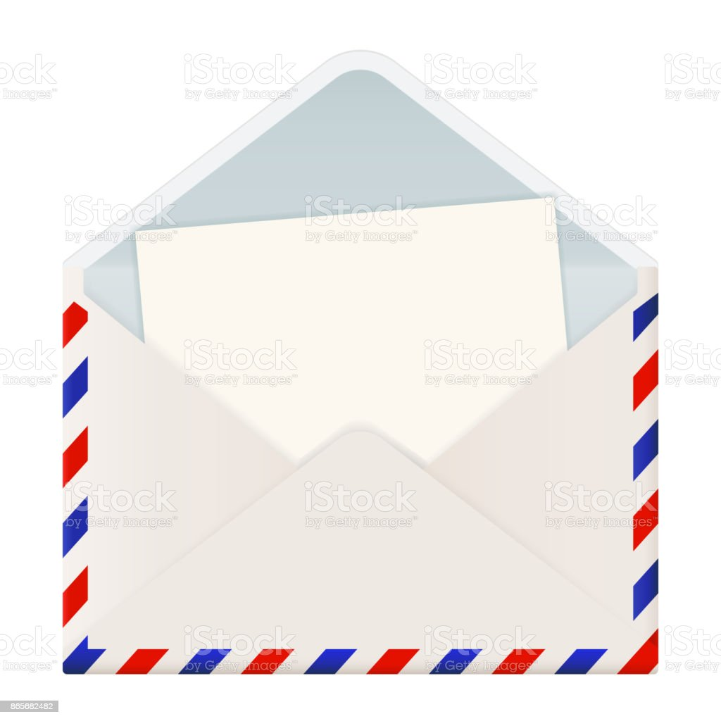 open international mail envelope with letter stock vector art more