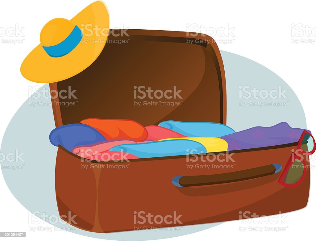 royalty free open suitcase clip art vector images illustrations rh istockphoto com open suitcase images clipart