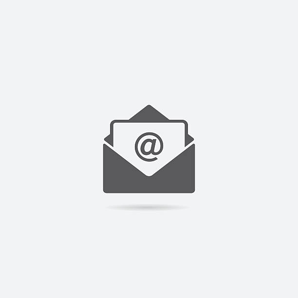 open letter or mail icon - email icon stock illustrations, clip art, cartoons, & icons