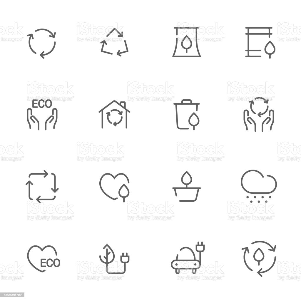 Open line icons environment set 3 - Royalty-free Alertness stock vector