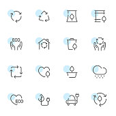 Open line icons environment set 3