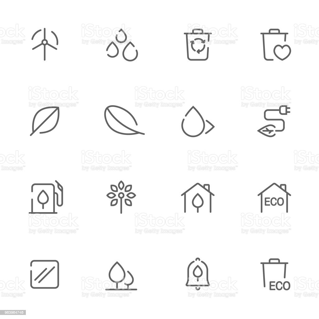 Open line icons environment set 4 - Royalty-free Advice stock vector