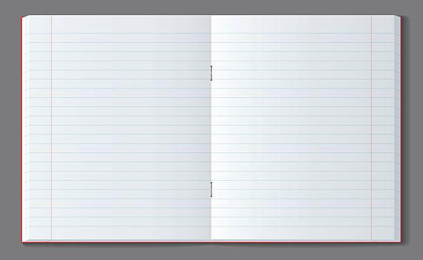 open line notebook with soft transparent shadow. - 構圖 幅插畫檔、美工圖案、卡通及圖標