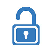Beautiful design and fully editable Open lock, unlock, unlocked icon for commercial, print media, web or any type of design projects.