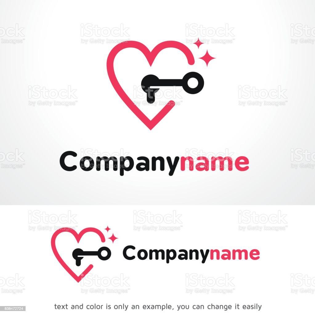 Öffnen Sie Liebe Symbol Template Design Vektor Emblem Designkonzept ...