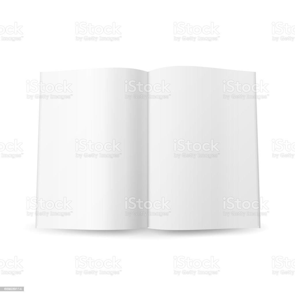 Open Magazine Spread Blank Vector. Isolated On White Background vector art illustration