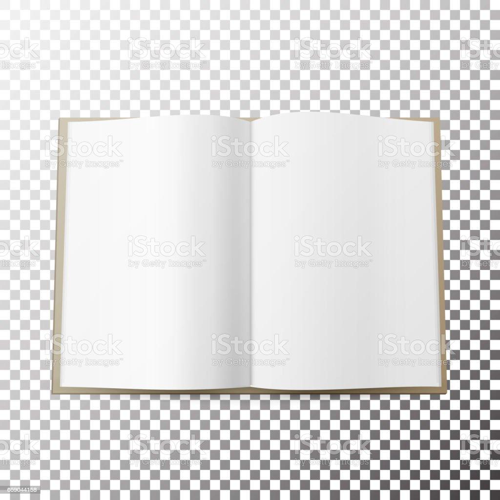 Abierta Expansión Revista Vector En Blanco Simple Mofa Para Arriba ...