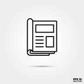 istock open magazine vector line icon 1082347068