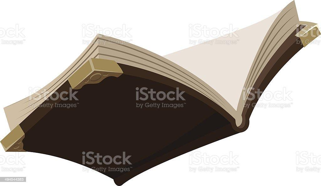 Offene alten Buch Magie – Vektorgrafik