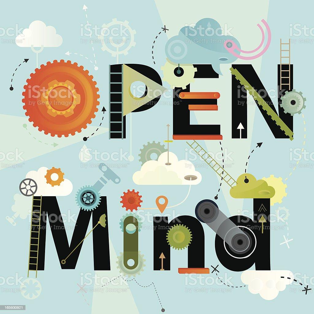 Open Mind royalty-free stock vector art