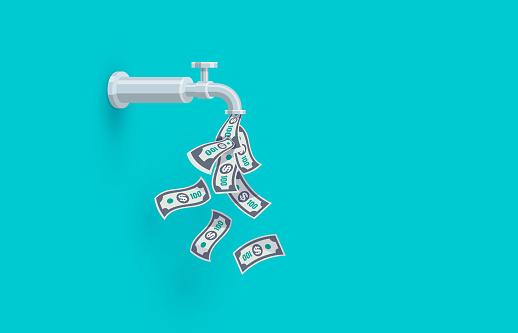 Open Money Faucet Passive Income Illustration