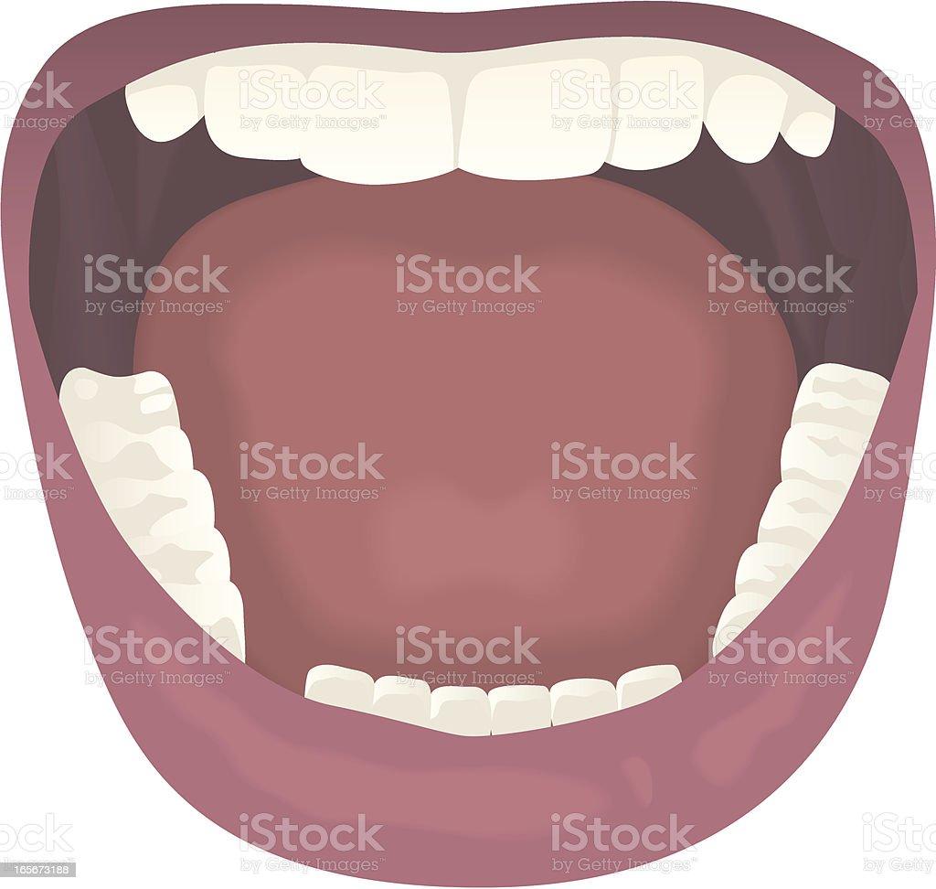Open mouth iso vector art illustration