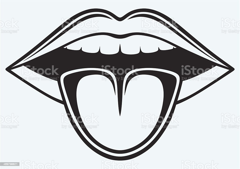 Open Mouth Tooth And Tongue Stock Illustration Download Image