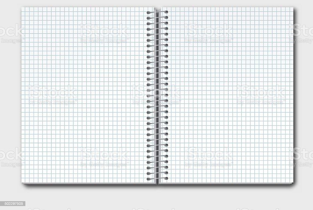 Open Notebook In Box vector art illustration