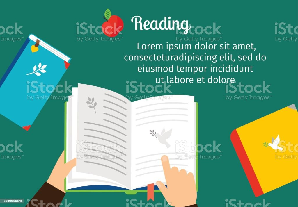 Open notepad scheduler with bookmark vector art illustration