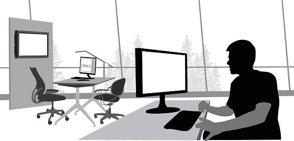 Open Office Worker