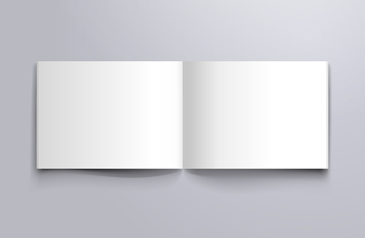 open page mockup