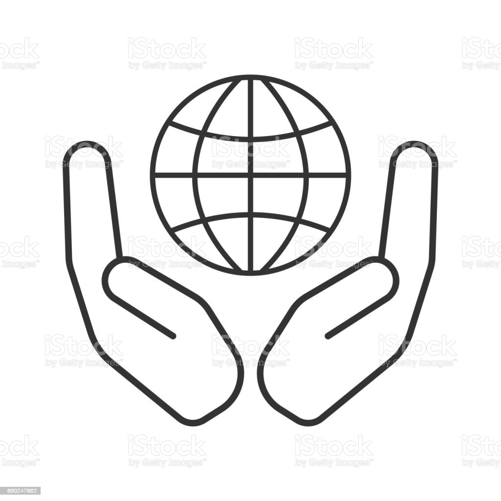 royalty free two hands open clip art vector images
