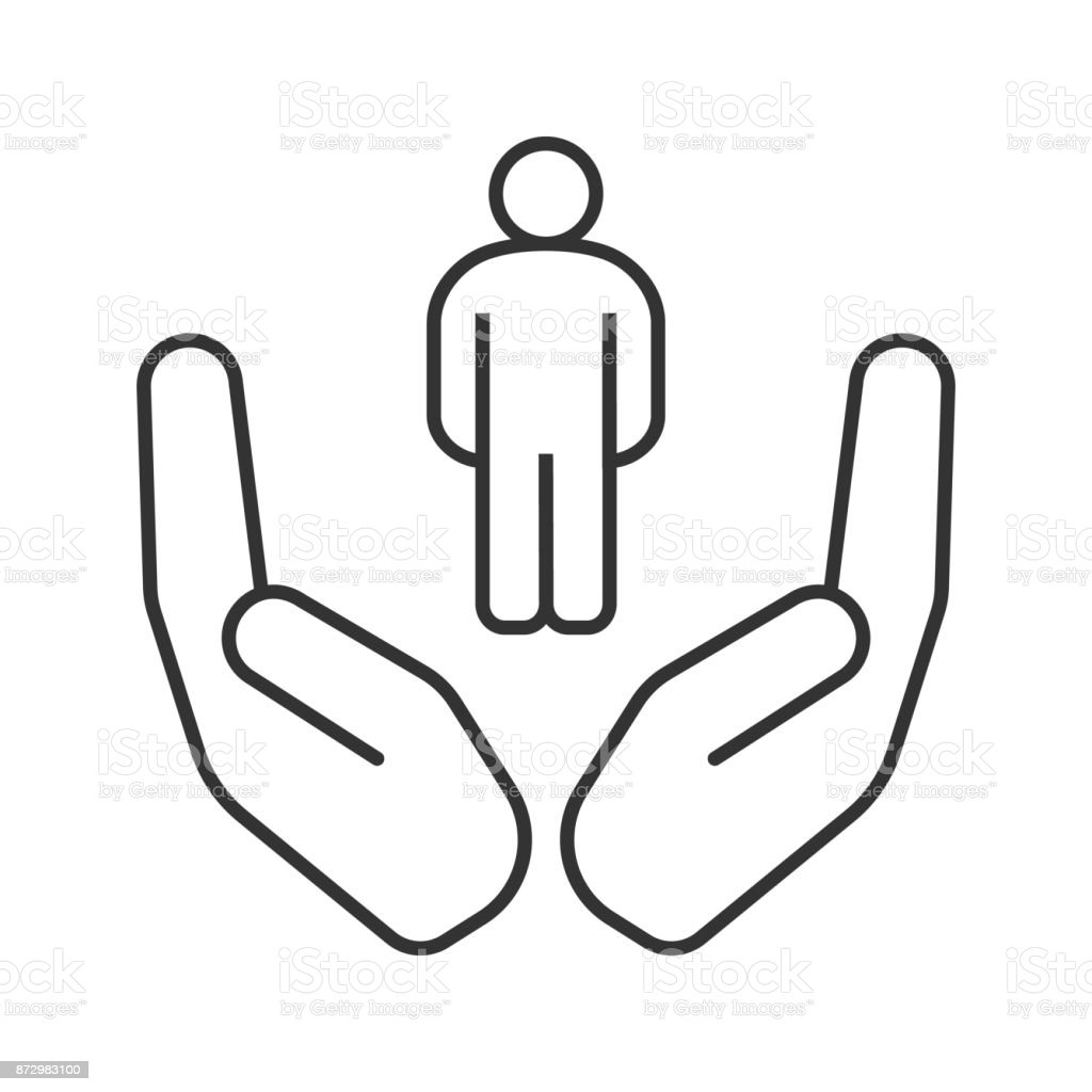 two hands open clip art vector images amp illustrations
