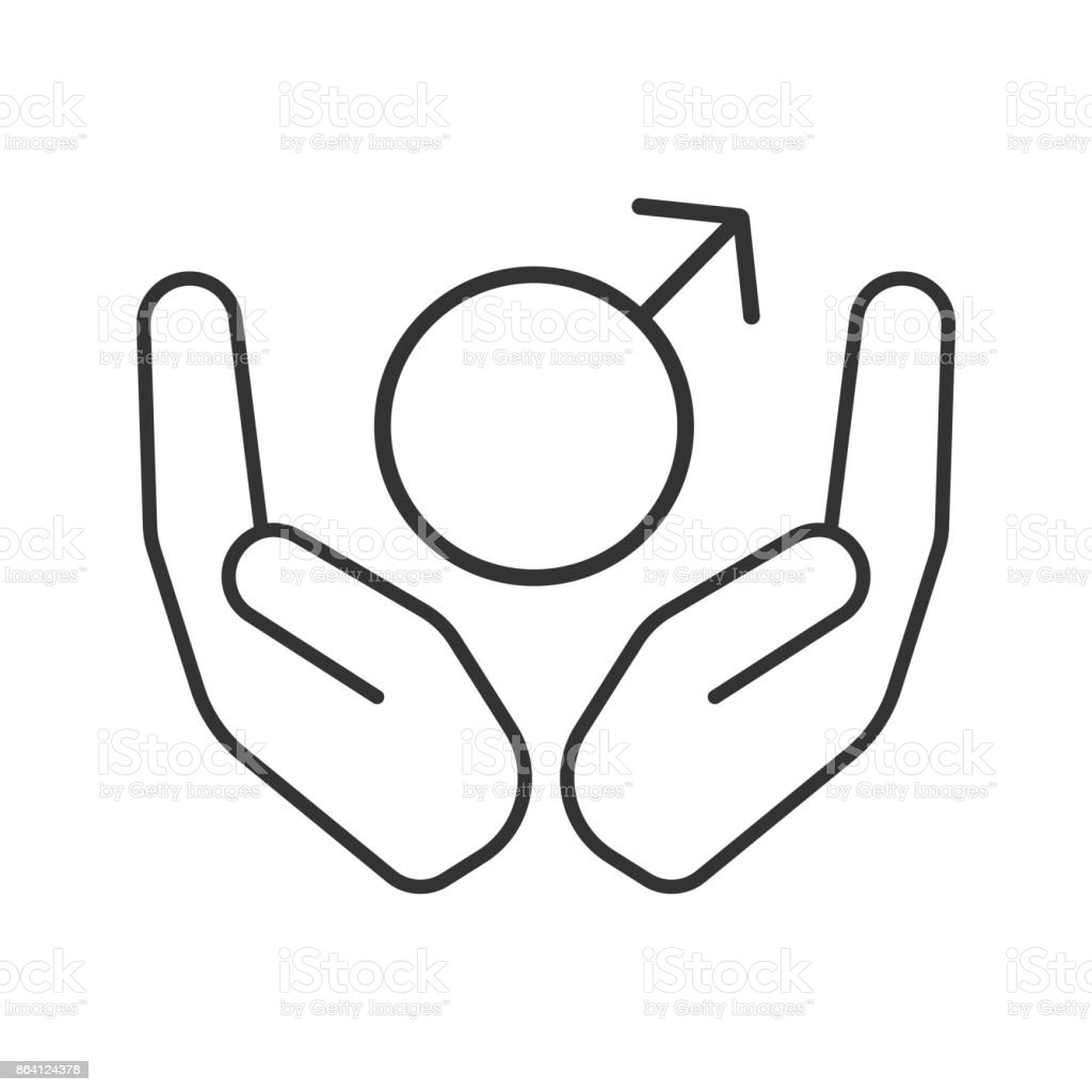 Open palms with male symbol icon royalty-free open palms with male symbol icon stock vector art & more images of adult