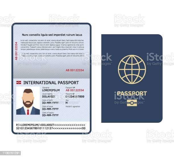 Open passport id document male photo page legal sample international vector id1130251291?b=1&k=6&m=1130251291&s=612x612&h=mabcbnvcvxzn9mm4ub59bvl2f8rv demg5adciuuvjm=