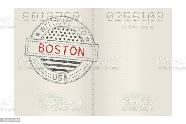 Open passport with welcome to boston stamp vector id923014066?b=1&k=6&m=923014066&s=612x612&h=hb8vdigqk4r835rzto2qhs7h0ol9dyoygyobuhbuffi=