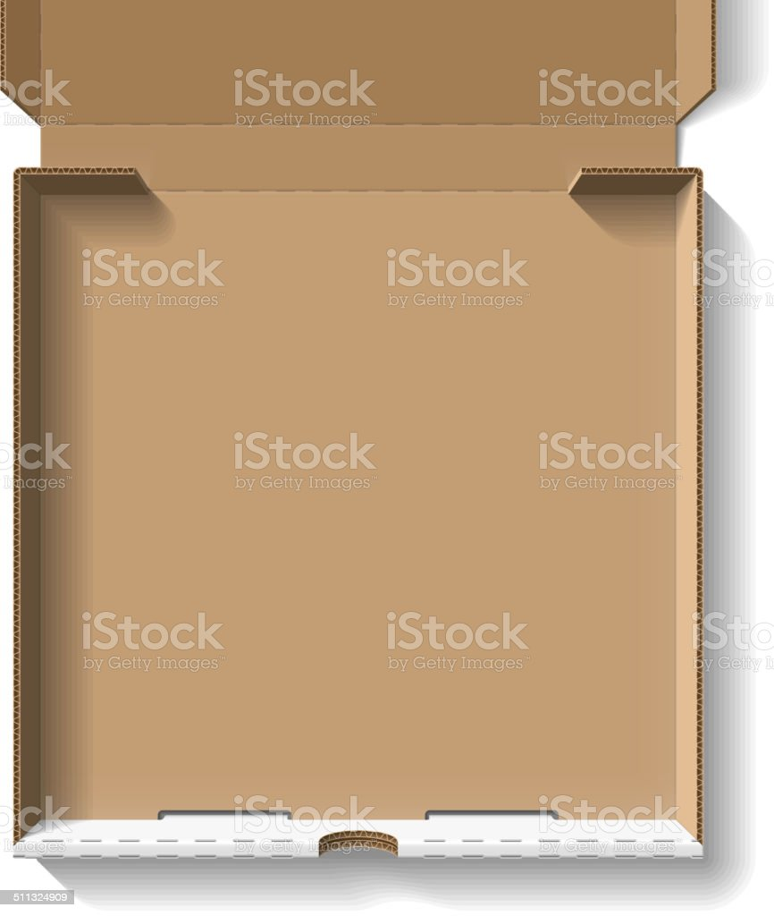 Open pizza box vector art illustration