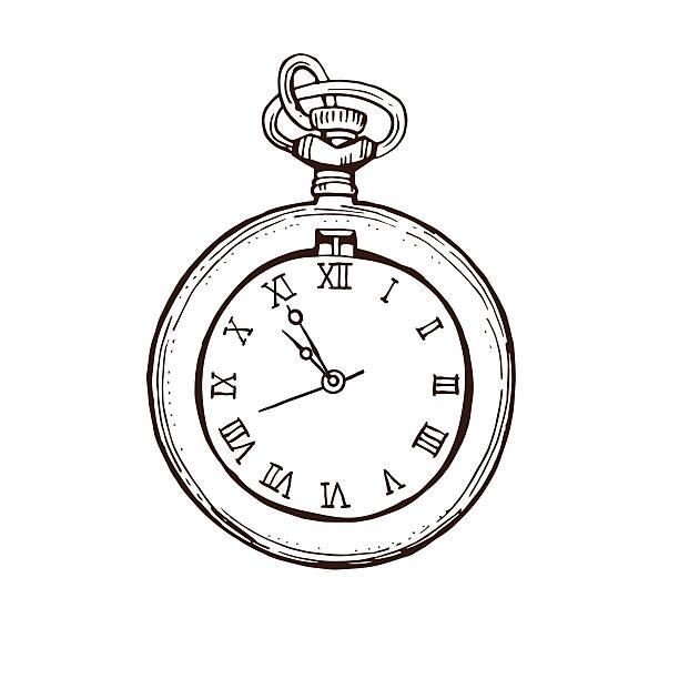 Vectores De Reloj Para Tatuar E Ilustraciones Libres De Derechos