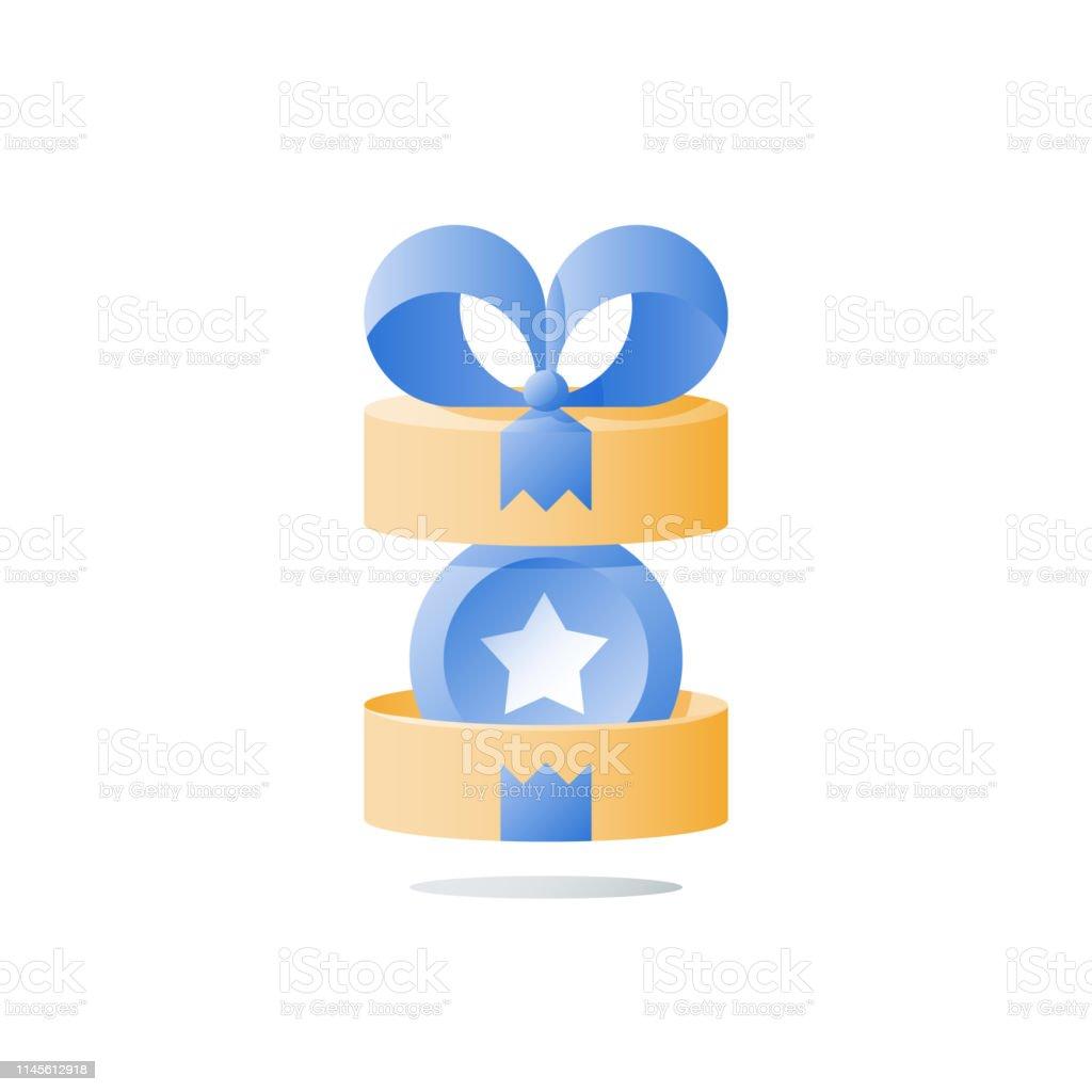 La Boite Jaune Prix ouvrir la boîte présente cadeau de récompense jaune