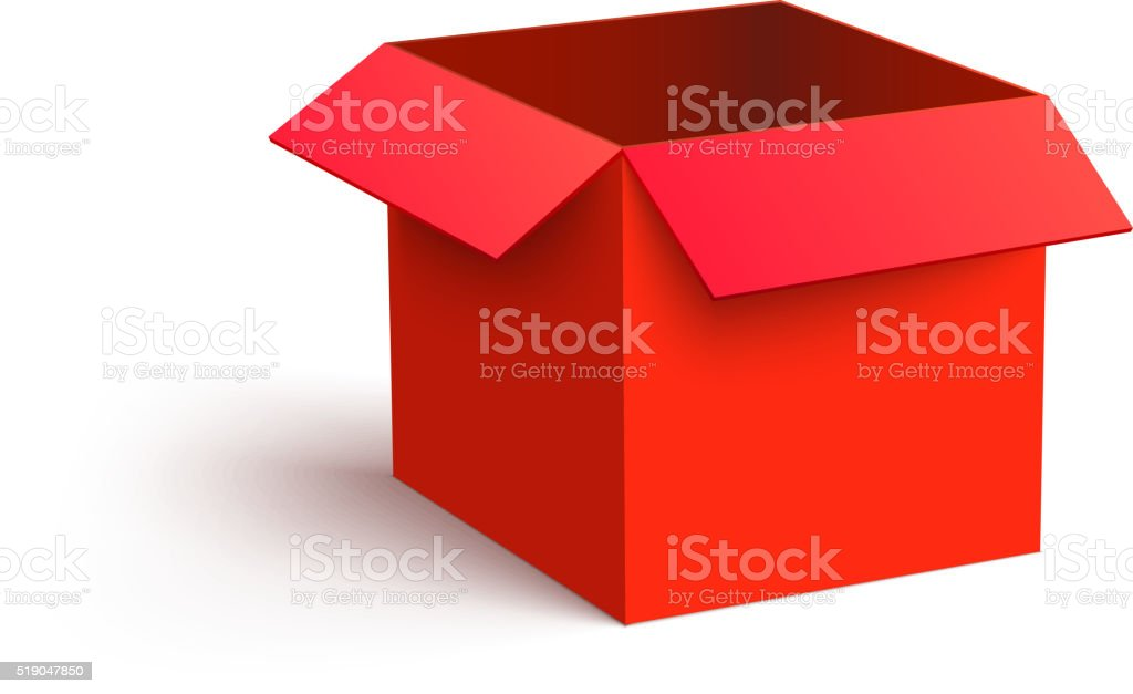 royalty free open box clip art vector images illustrations istock rh istockphoto com box clipart images box clipart open