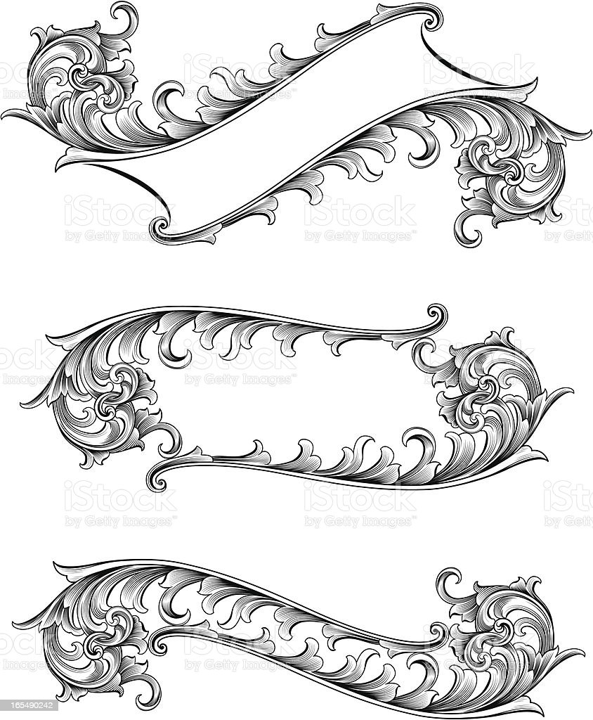 Open Scroll Banners royalty-free stock vector art