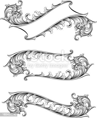Open Scroll Banners Stock Vector Art & More Images of