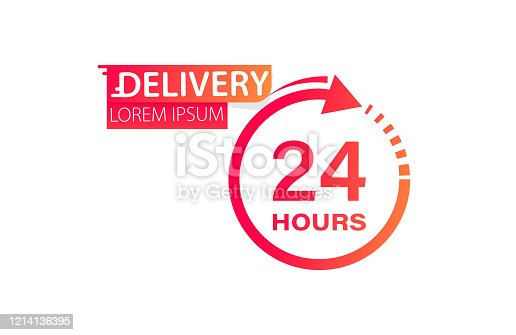 24 - 7 open service concept. Open 24 - 7 icon. Vector illustration
