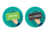 Open Sign And Closed Sign