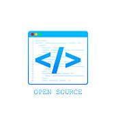 istock Open Source icon. Open Source symbol design from. Vector stock illustration. 1208176833