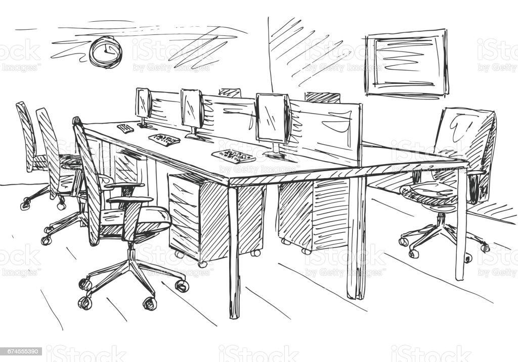 Abierta Espacio Ilustración Los Exterior Lugares De Oficina Ybgyvf67