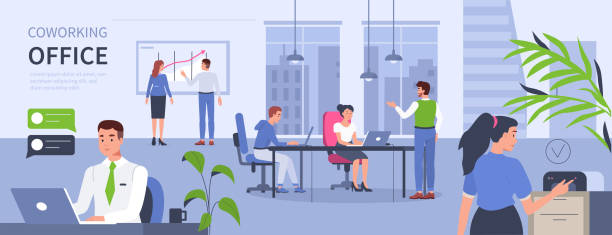 open space - office stock illustrations