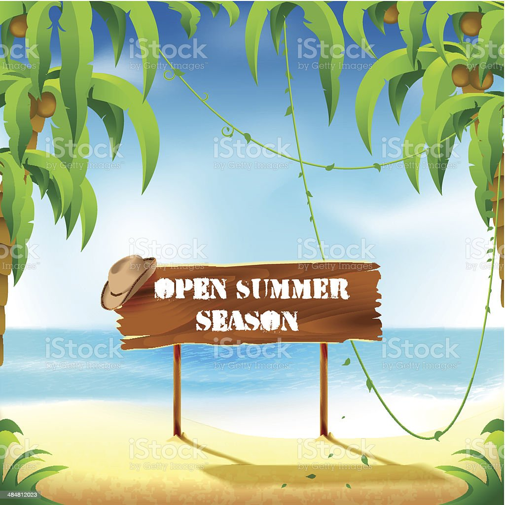 Open summer season royalty-free open summer season stock vector art & more images of advertisement